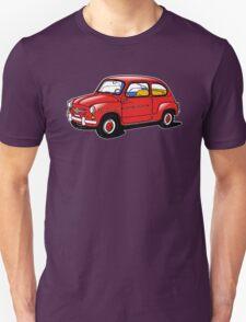 fiat 600 red Unisex T-Shirt