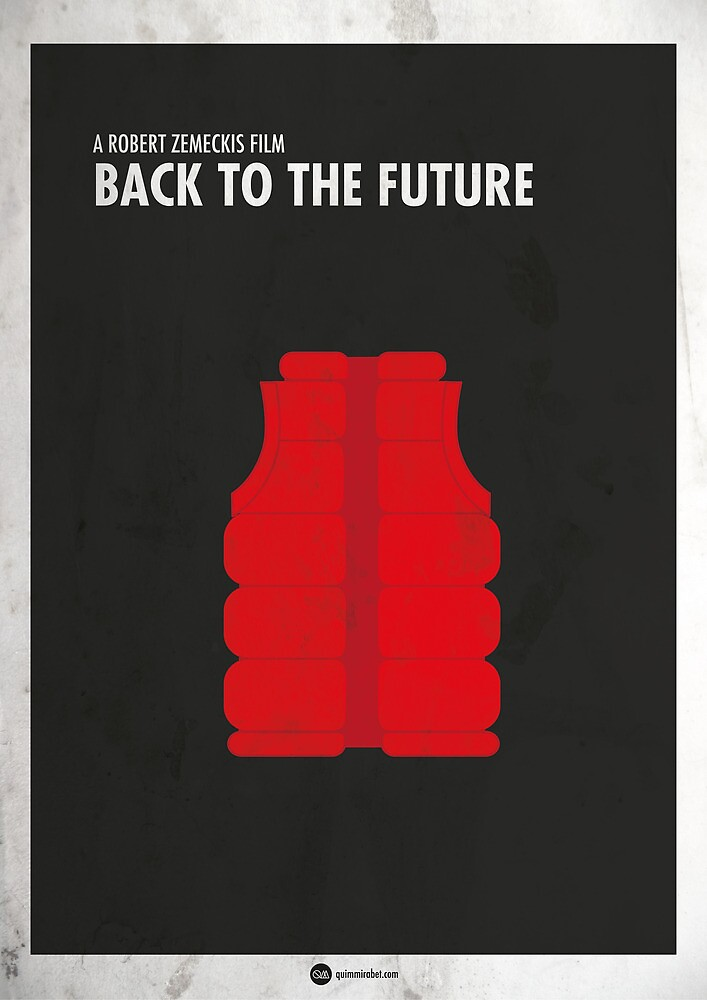 Back to the Future Minimal Film Poster by quimmirabet