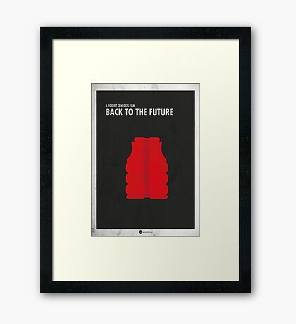 Back to the Future Minimal Film Poster Framed Print
