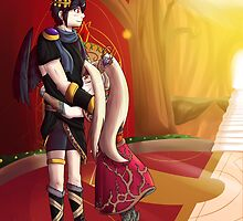 Dark Pit and Viridi by KumoriDragon
