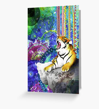 Tiger's Dream Greeting Card