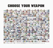 POKEMON / CHOOSE YOUR WEAPON T-SHIRT by ricorso