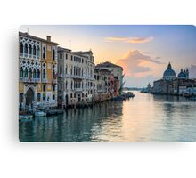 Sunrise at the Grand Canal in Venice, Italy Canvas Print