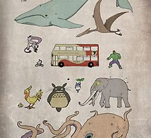 Whale Scale - Fantasy creatures poster by piecesofpaint