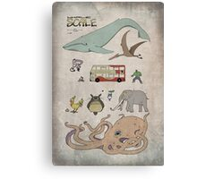 Whale Scale - Fantasy creatures poster Canvas Print