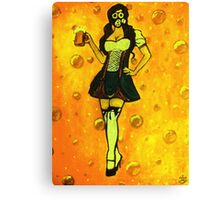 The Beer Maiden Canvas Print