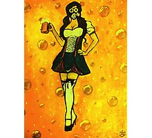The Beer Maiden Photographic Print