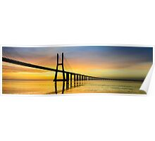Vasco da Gama bridge in Lisbon Poster
