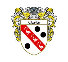 Clarke Coat of Arms/Family Crest Photographic Print