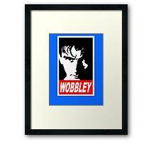 WOBBLEY Framed Print