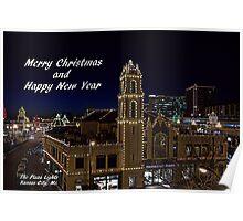 Kansas City Plaza Lights Poster