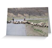 Crossing the road Greeting Card