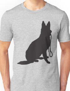 Shepherd with Leash Unisex T-Shirt
