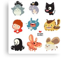 Studio Ghibli Friends Canvas Print