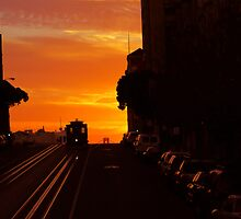 California Van Ness Line Sunrise by David Denny