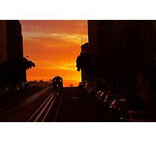 California Van Ness Line Sunrise Photographic Print