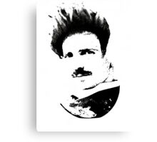 Postmodern Tesla Black Canvas Print