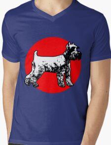 Schnauzer Mens V-Neck T-Shirt