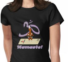 Namaste Yoga Fox Handstand Womens Fitted T-Shirt
