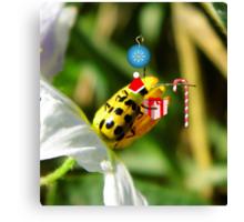The Santa Ladybug Canvas Print