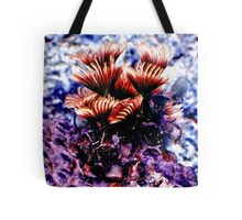 Purple and Pink Social Feather Dusters Tote Bag