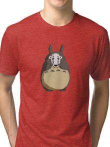 Totoro Mask Tri-blend T-Shirt