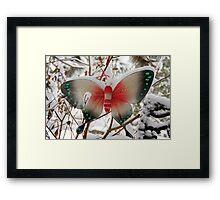 Snow Butterfly Framed Print