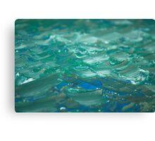 macro shot of my painting  Canvas Print