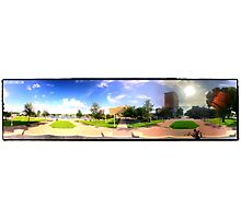 Downtown Panorama Photographic Print