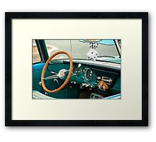 Classic Car and Dice Framed Print