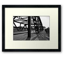 Steel Bridge Black and White Framed Print