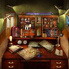 Steampunk - My busy study by Mike  Savad