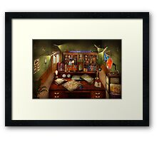 Steampunk - My busy study Framed Print
