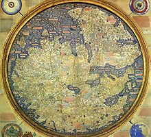 Antique Fra Mauro Map Asia Africa Europe by pdgraphics