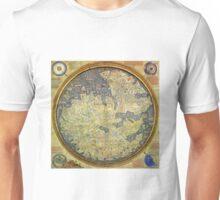 Antique Fra Mauro Map Asia Africa Europe Unisex T-Shirt
