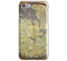 Antique Fra Mauro Map Asia Africa Europe iPhone Case/Skin