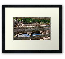 Water Barrels Framed Print