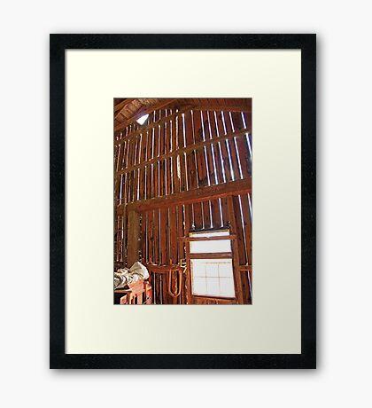 Light Through The Barn Wall Framed Print