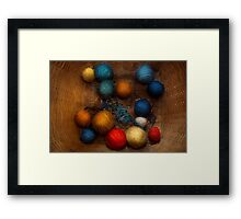Sewing - Knitting - Yarn for cats Framed Print