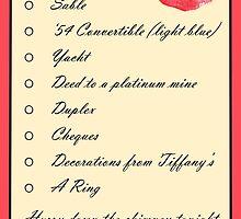 Santa Baby Christmas List by MoonFetus