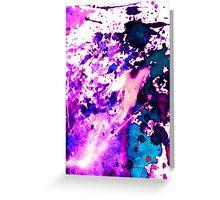 wild Purple Greeting Card