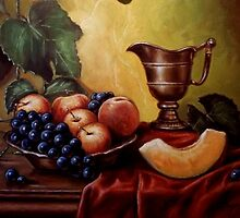 """Fruit and ketlle"" by Jozi Mesaros"