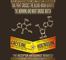 Caffeine Vs Adenosine Light Text Unisex T-Shirt