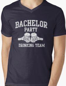 Bachelor Party Drinking Team Mens V-Neck T-Shirt