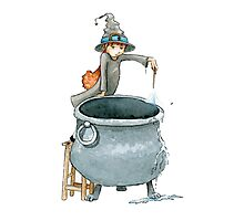 Choretime or Fiona and the Pot Photographic Print