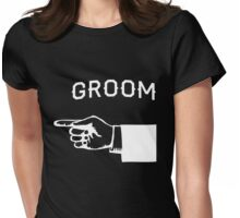 Groom Hand Pointing Right Womens Fitted T-Shirt