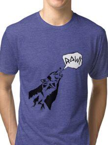RAW WOLF HOWL TEE Tri-blend T-Shirt