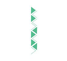 Zig Zag Triangle - Simple, Modern, Eclectic Design by kfarritor