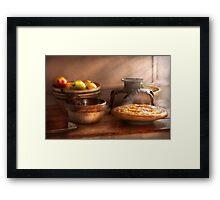 Food - Pie - Mama's peach pie Framed Print