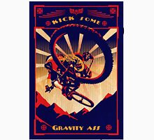 retro mountain bike poster: kick some gravity ass Unisex T-Shirt